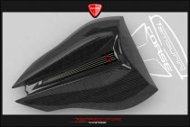 B4 Single seat tail in carbon fiber (with Transparent Avio)