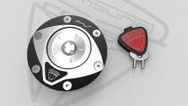 F3-B3-RIVALE Tappo Serbatoio Lock shining-black