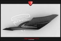 B4 Left panel beneath seat in carbon fiber (with Transparent Avio)