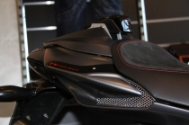 B4 Single seat tail in carbon fiber complete of plug (personal graphics Star.)