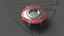 F3-B3-RIVALE Tappo Serbatoio Race shining-red