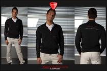 Felpa Fashion in cotone nera