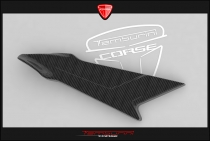B4 Left fuel tank panel in carbon fiber (in natural state)