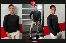 T-Shirt Teck M.L. in cotone Nera