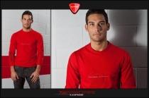T-Shirt Teck M.L. in cotone Rossa