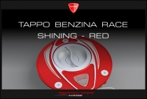 F4-B4-Ducati Tappo benzina Race shining - red