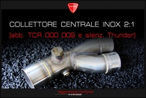 Collettore centrale inox 2:1