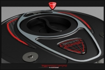 F4-B4-Ducati Tappo benzina Race shining - black