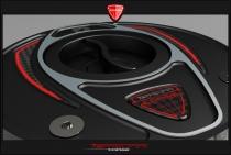 F4-B4-Ducati Tappo benzina Race black - black